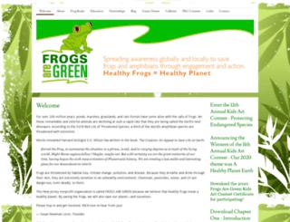 frogsaregreen.com screenshot