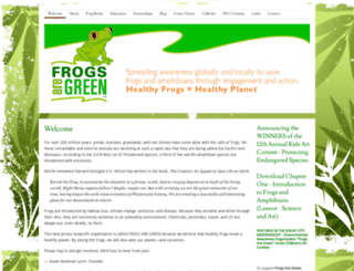 frogsaregreen.org screenshot