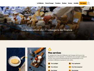 fromagersdefrance.com screenshot