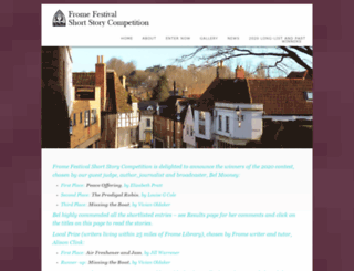 fromeshortstorycompetition.co.uk screenshot