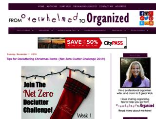 fromoverwhelmedtoorganizedblog.com screenshot