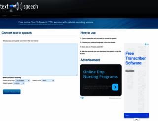 fromtexttospeech.com screenshot