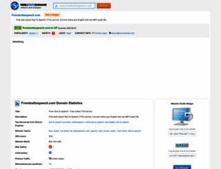 fromtexttospeech.com.webstatsdomain.org screenshot