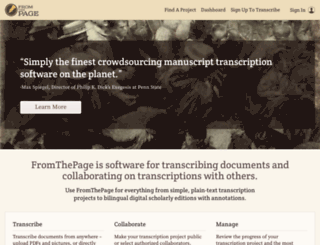 fromthepage.com screenshot