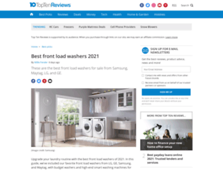 front-load-washer-review.toptenreviews.com screenshot