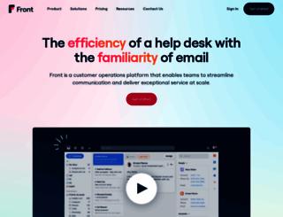 frontapp.com screenshot