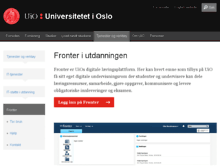 fronter.uio.no screenshot