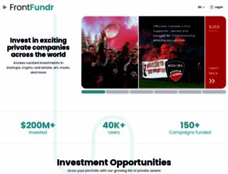 frontfundr.com screenshot