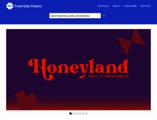 frontgatetickets.com screenshot