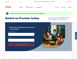 frontierforhome.com screenshot