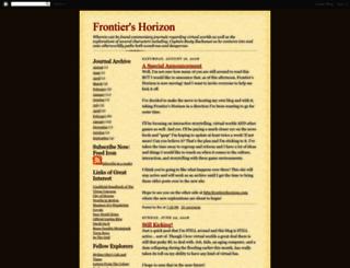 frontierhorizon.blogspot.com screenshot