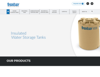 frontierpolymers.com screenshot