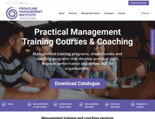 frontlinemanagementinstitute.com.au screenshot
