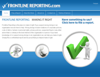 frontlinereporting.com screenshot