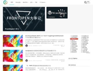 frontopen.com screenshot