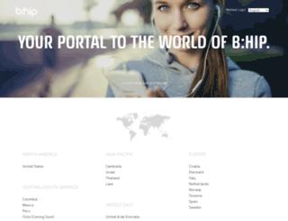frontpage.bhipglobal.com screenshot