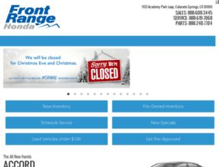 frontrangehondausedcars.com screenshot