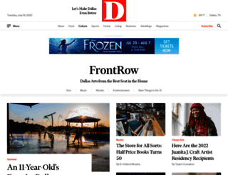 frontrow.dmagazine.com screenshot