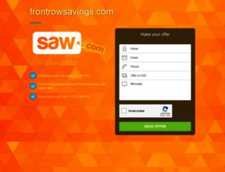 frontrowsavings.com screenshot