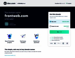 frontweb.com screenshot
