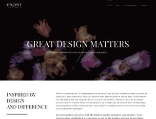 frostinteriors.com screenshot
