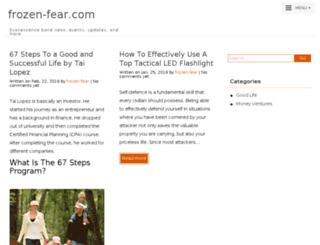frozen-fear.com screenshot