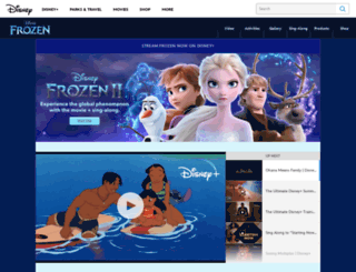 frozen.disney.com screenshot