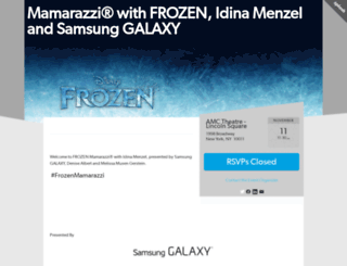 frozenmamarazzi.splashthat.com screenshot