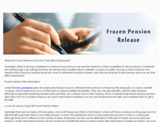 frozenpensionrelease.myinstapage.com screenshot
