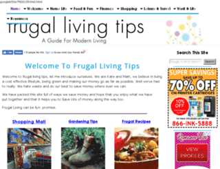 frugal-living-tips.com screenshot