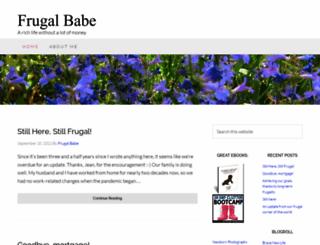 frugalbabe.com screenshot
