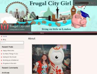 frugalcitygirl.com screenshot