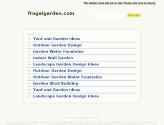 frugalgarden.com screenshot
