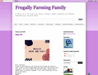 frugallyfarmingfamily.blogspot.com screenshot