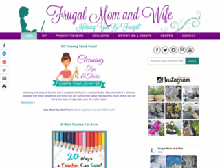 frugalmomandwife.com screenshot