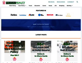 frugalreality.com screenshot