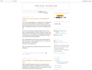 frugalscholar.blogspot.com screenshot