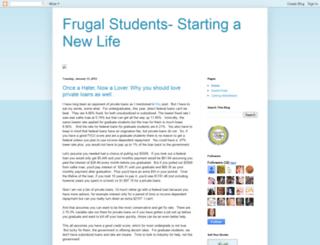 frugalstudents.blogspot.com screenshot