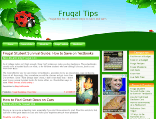 frugaltips.org screenshot