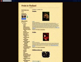 fruitsinthailand.blogspot.com screenshot