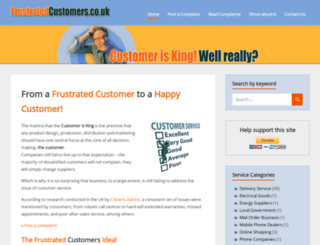 frustratedcustomers.co.uk screenshot