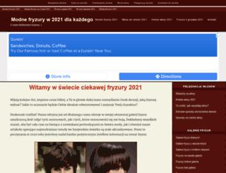 fryzury.qever.com screenshot