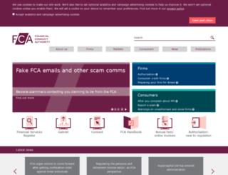 fsa.org.uk screenshot
