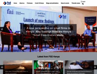 fsdkenya.org screenshot