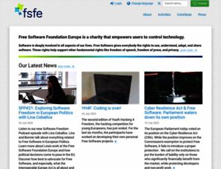 fsfe.org screenshot