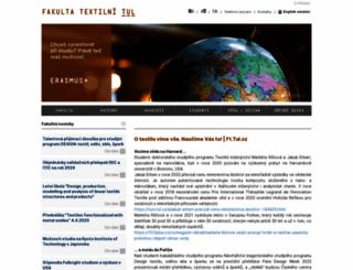 ft.tul.cz screenshot