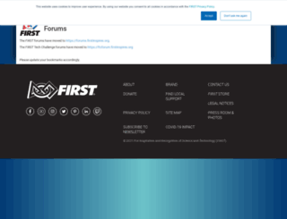 ftcforum.usfirst.org screenshot