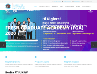 fti.uksw.edu screenshot