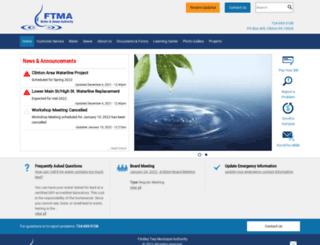 ftmawatersewer.com screenshot