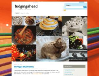 fudgingahead.wordpress.com screenshot